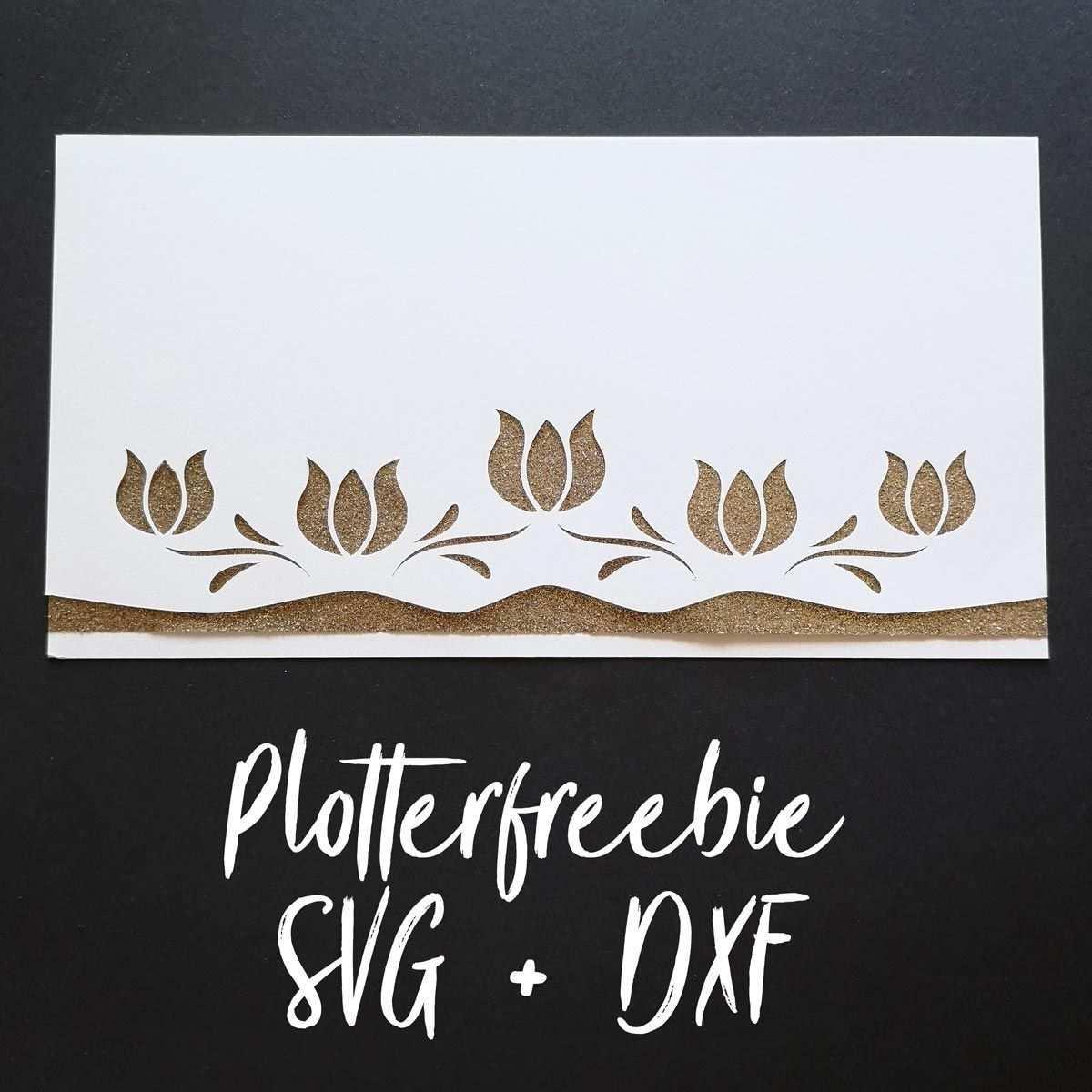 Plotterfreebie Kuvert Mit Tulpen Als Gutscheinverpackung Kugelig Com Kuvert Gutscheine Einladungskarten Basteln