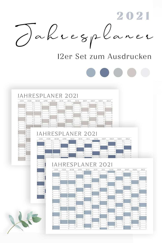 Jahresplaner 2021 2020 Mit Kalenderwochen Zum Ausdrucken 10er Set Querformat Swomolemo Jahresplaner Kalender Zum Ausdrucken Kalender Vorlagen