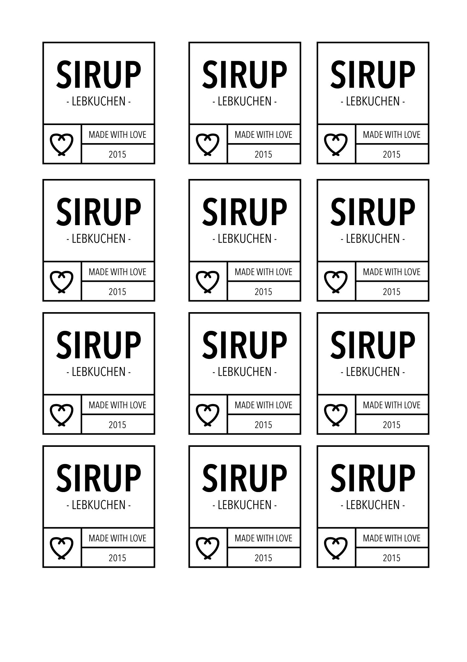 Etiketten Zum Ausdrucken Fur Verschiedene Sirups Als Pdf Zum Download Free Printables Etiketten Johannisbeersirup Ausdrucken