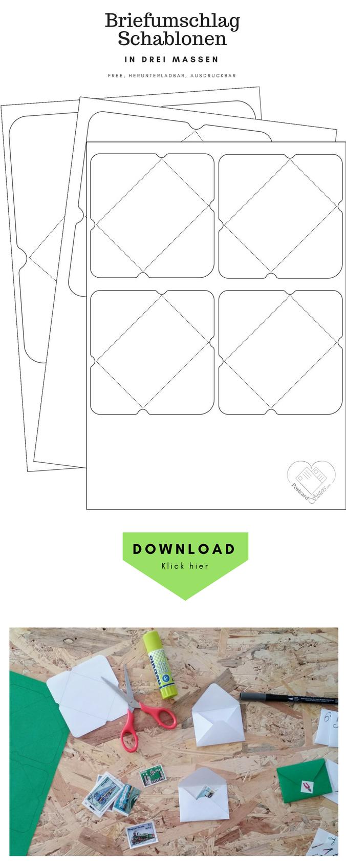 Briefumschlag Schablonen Briefumschlag Umschlag Umschlage