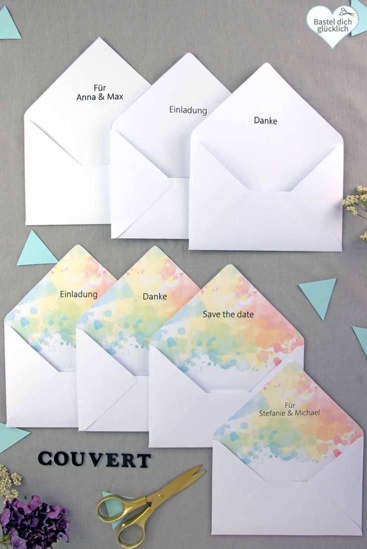 Farbenfreude 229 Word Vorlagen Zum Ausdrucken Briefumschlag Selber Machen Etiketten Gestalten Diy Hochzeit Planen