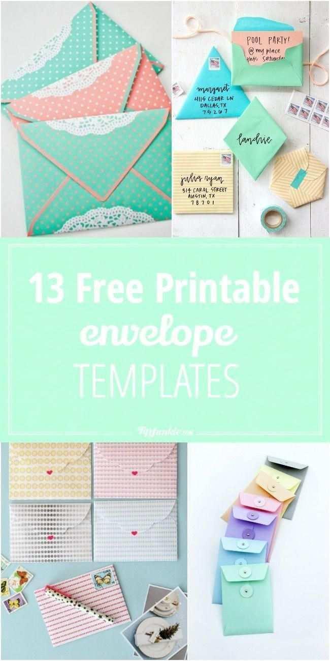 13 Free Printable Envelope Templates Scrapbookingprintables Briefumschlag Basteln Diy Umschlag Umschlag Kunst