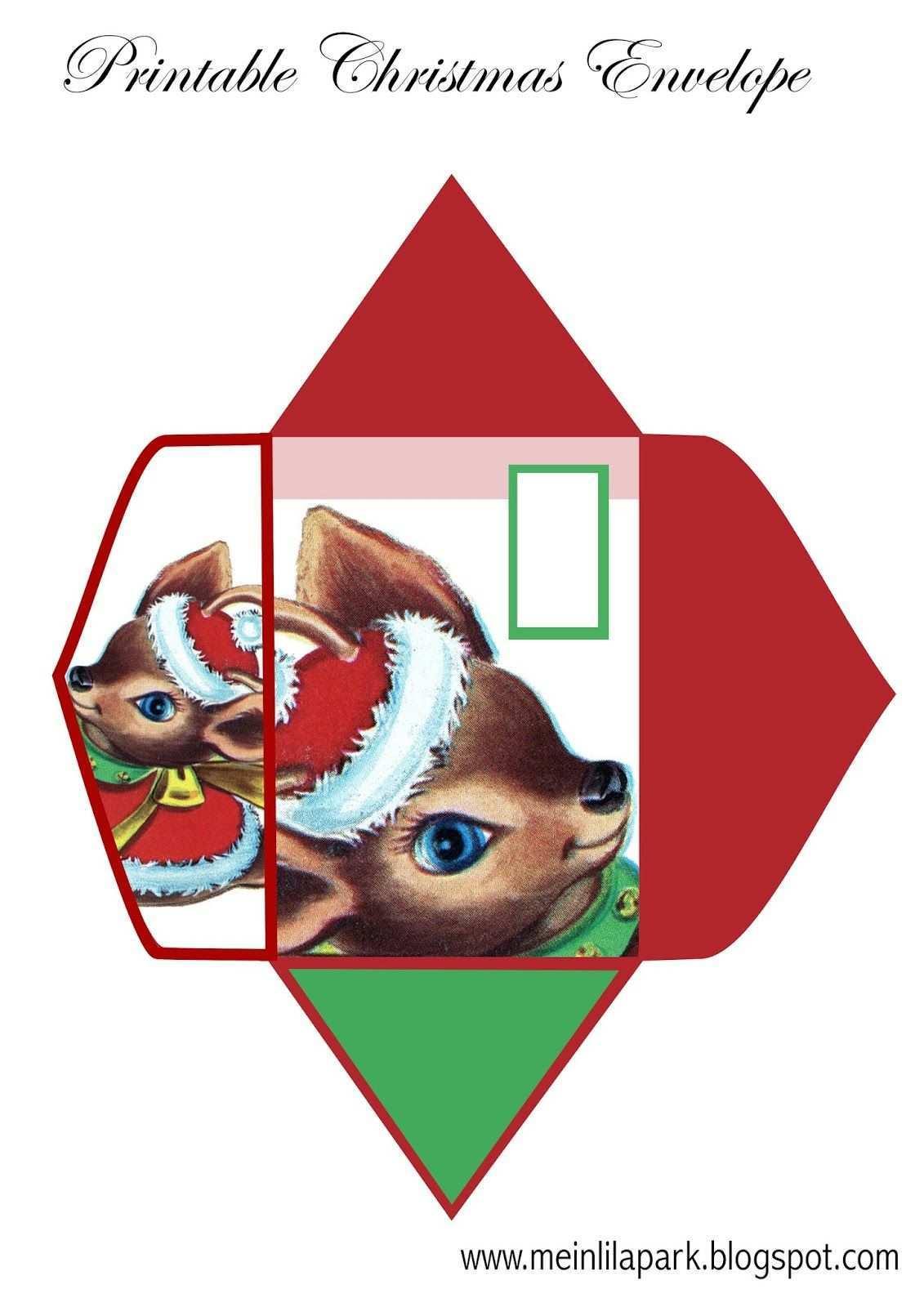 Free Printable Xmas Envelope For Kids Ausdruckbarer Briefumschlag Freebie Weihnachtsdruck Briefumschlag Selbstgemachte Weihnachtskarten