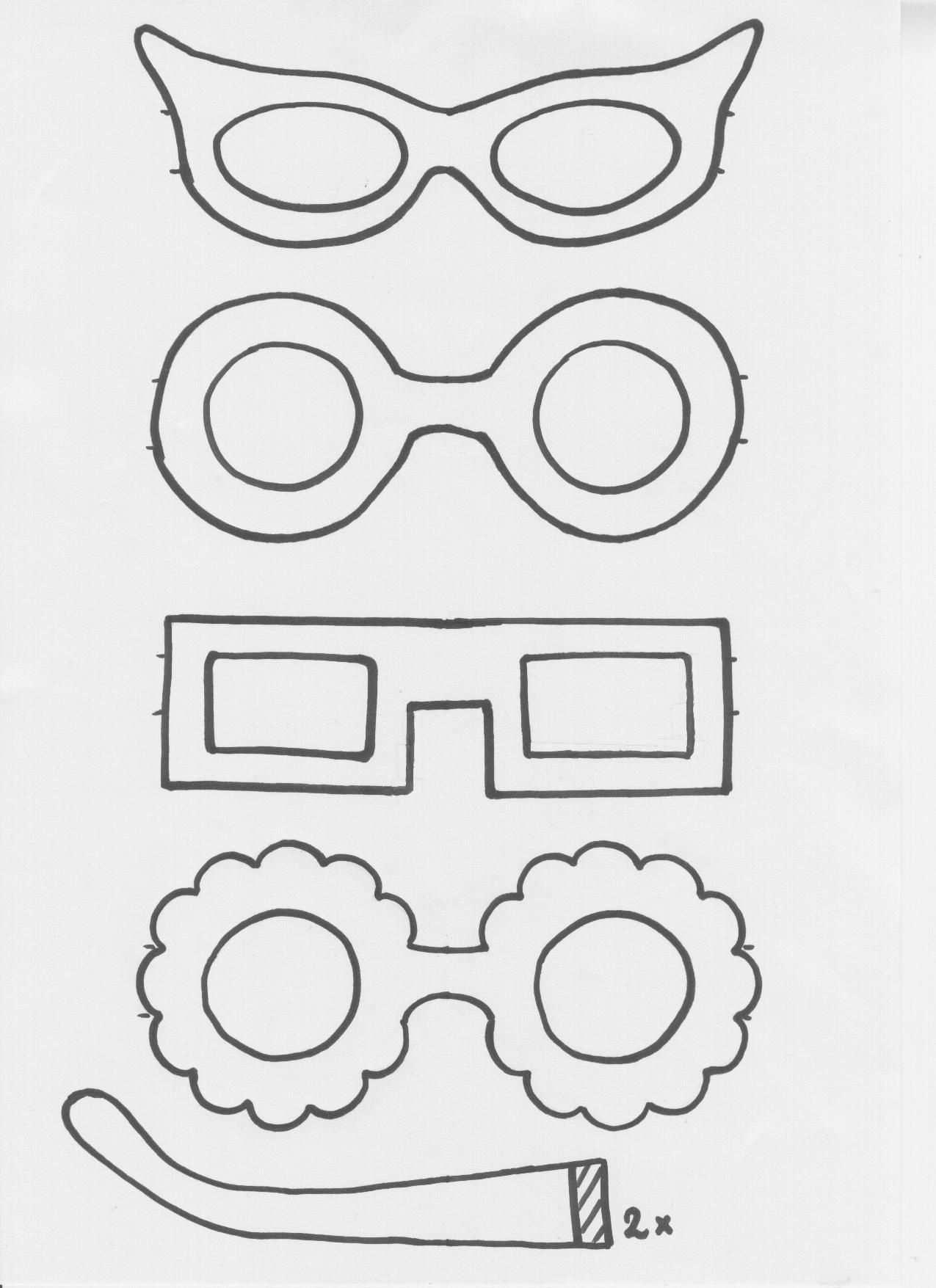 Brille Basteln Vorlage
