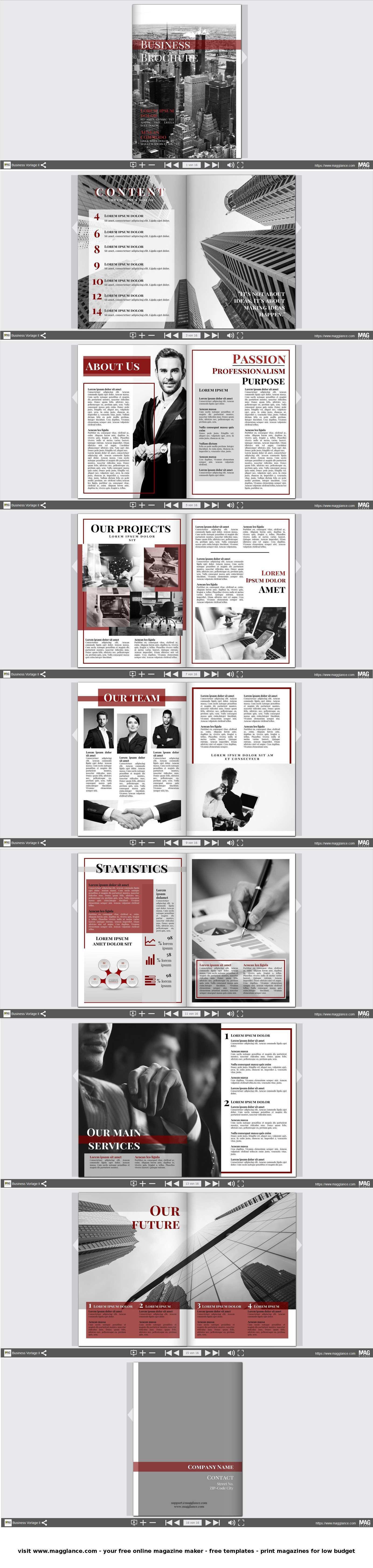 Business Broschure Kostenlos Online Erstellen Und Gunstig Drucken Unter De Magglance Com Broschure Firmenzeitung Broschure Broschure Vorlage Broschure Design