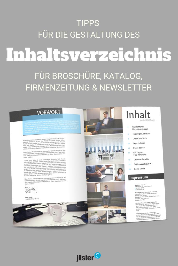 Inhaltsverzeichnis Erstellen Fur Deine Zeitschrift Jilster Blog Inhaltsverzeichnis Erstellen Inhaltsverzeichnis Broschure