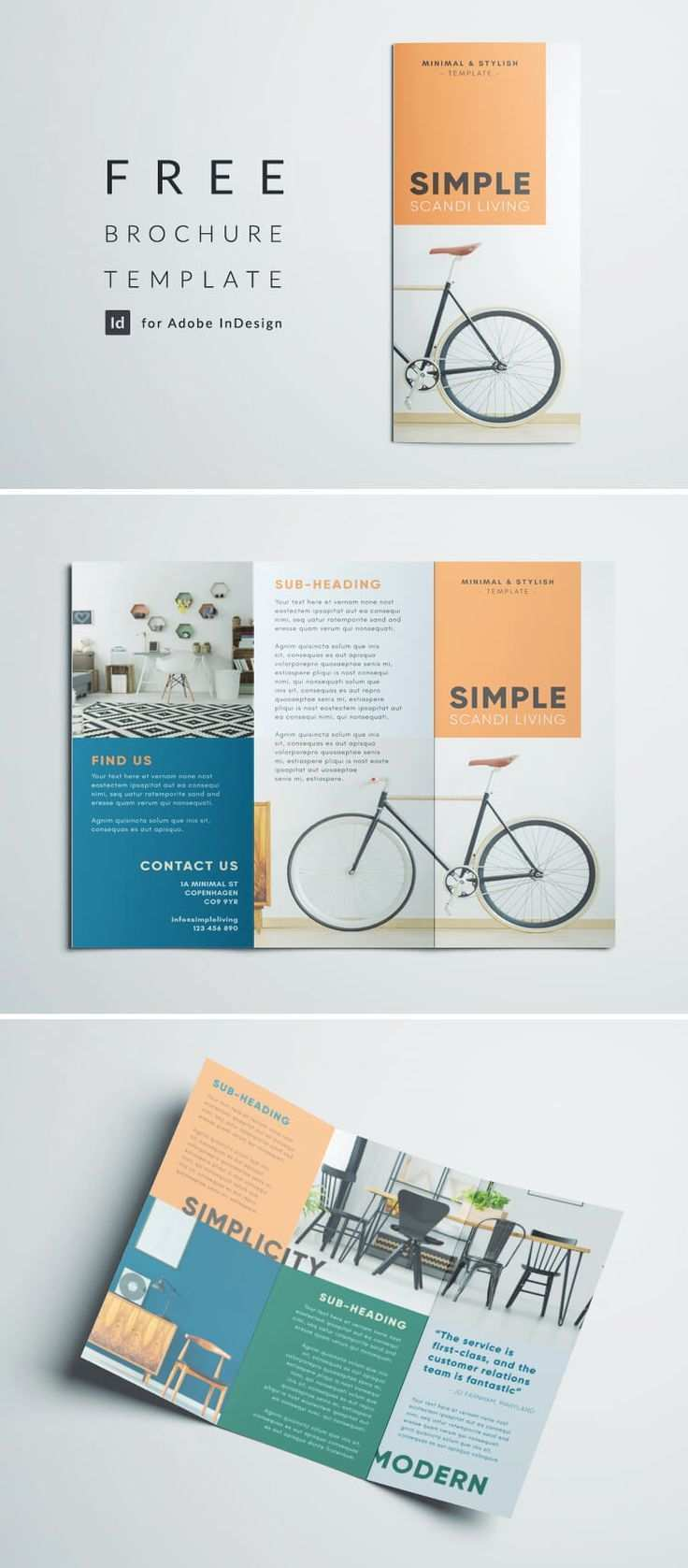 Simple Triold Brochure Template Free Indesign Template Download Simple Minimalist Free Brochure Template Trifold Brochure Design Brochure Design Template