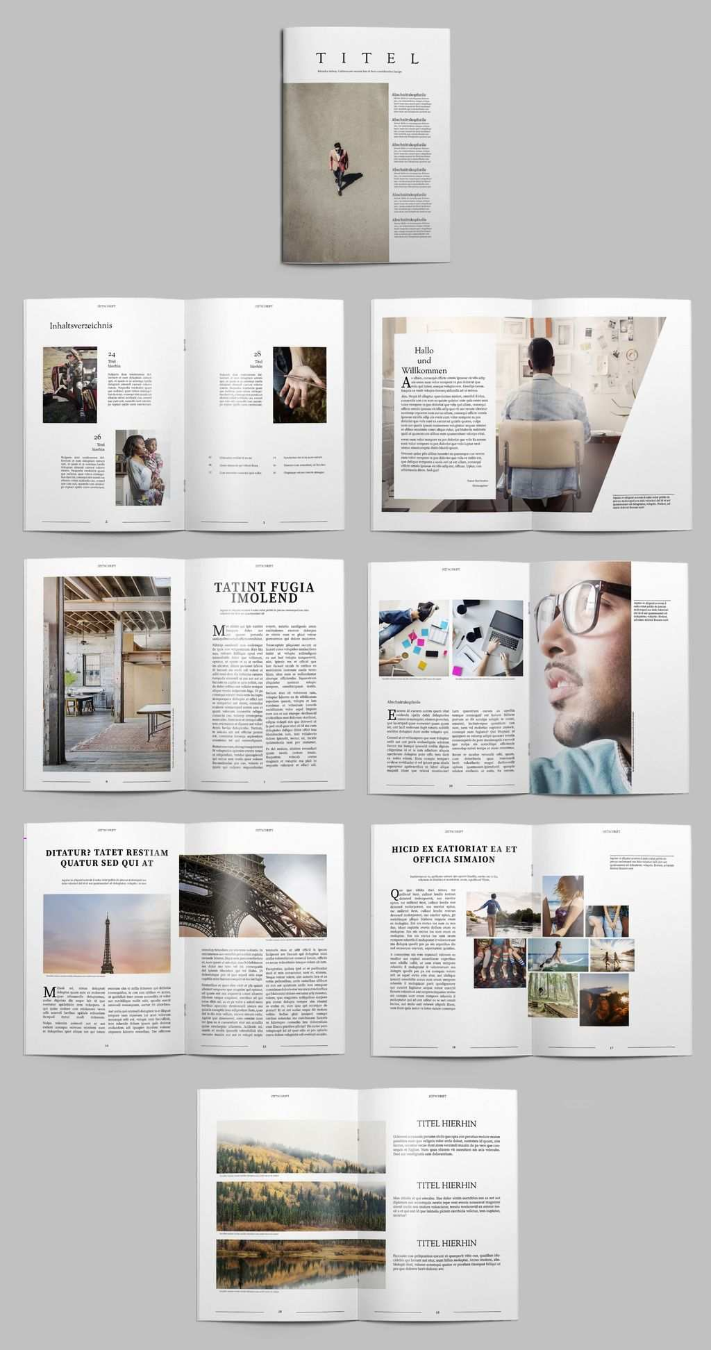 Kostenlose Indesign Vorlagen Fur Magazine Creative Blog By Adobe Indesign Vorlagen Bookletgestaltung Indesign Vorlage