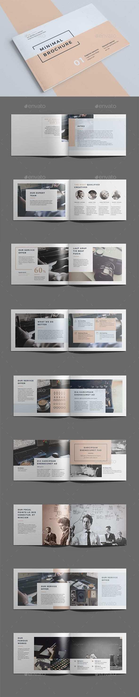 Minimal Brochure Template Indesign Indd Download Here Layouts Broschurendesign Broschure Vorlage Und Broschuren Layout