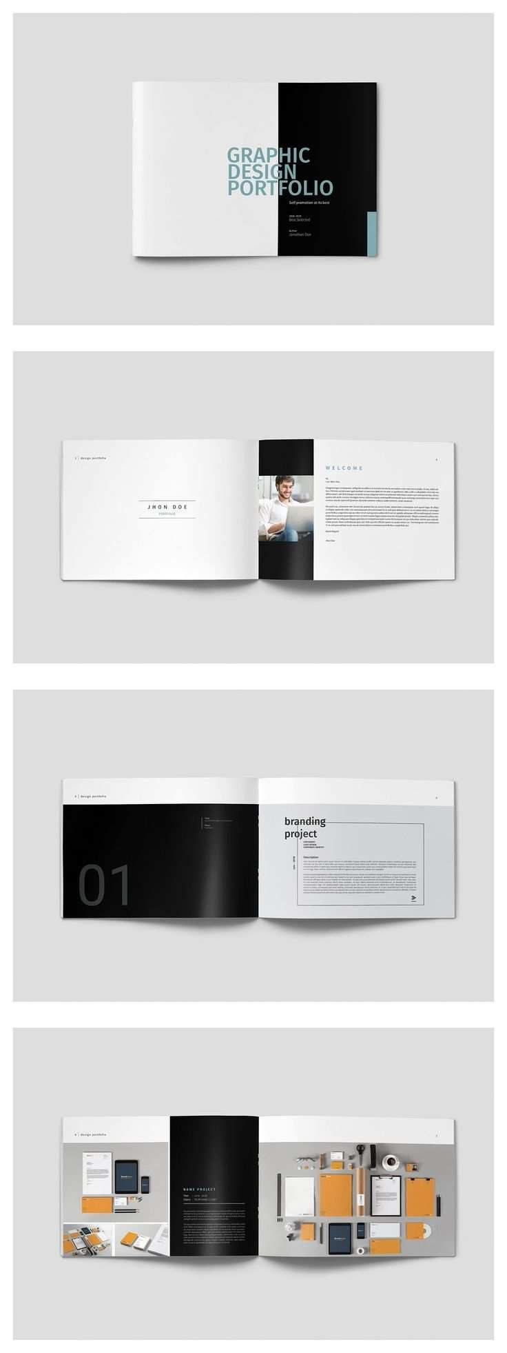 Graphic Design Portfolio Template Graphicdesign Portfolio Brochure Template Indesign Portfolio Design Portfolio Template Design Portfolio Design Layout