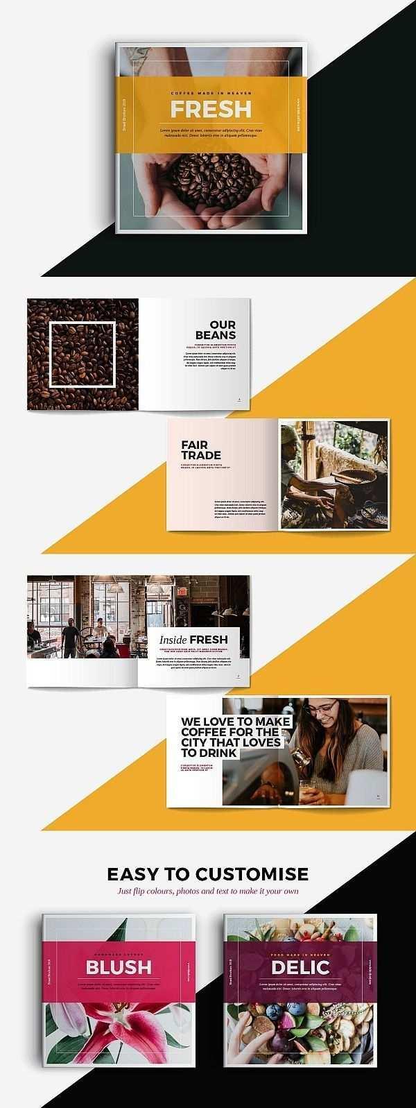 Quadratische Portfolio Broschuren Vorlage Bros Bros Broschuren Logo Portfoli Brochure Design Layout Brochure Design Inspiration Portfolio Brochures