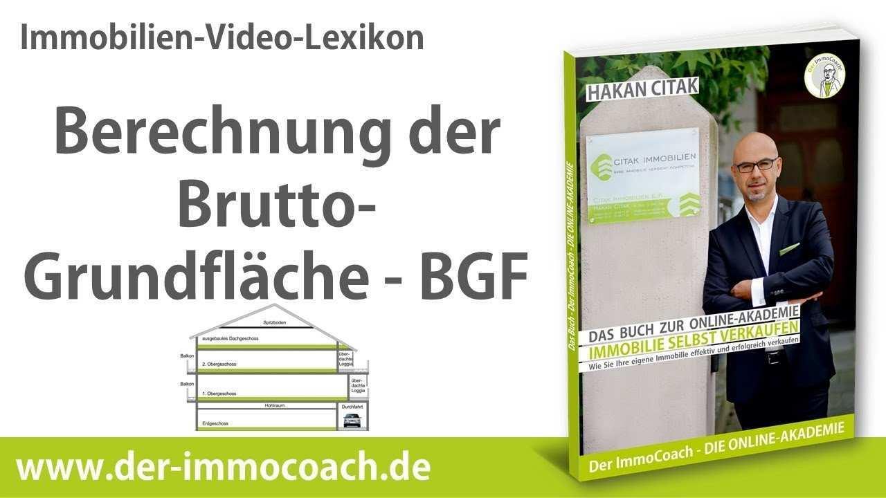 Berechnung Der Brutto Grundflache Bgf Der Immocoach Die Online Akademie Fur Immobilieneigentumer Youtube