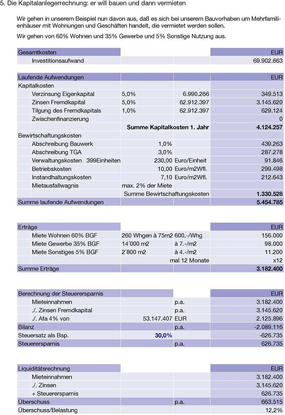 Wirtschaftlichkeitsberechnung Am Beispiel Fh Gelande Regensburg Pdf Kostenfreier Download