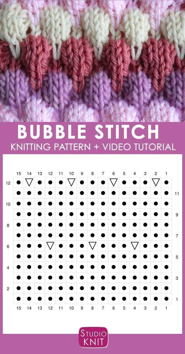 Bubble Stitch Strickmuster In 2020 Socken Stricken Muster Strickmuster Stricken Sockenmuster Stricken