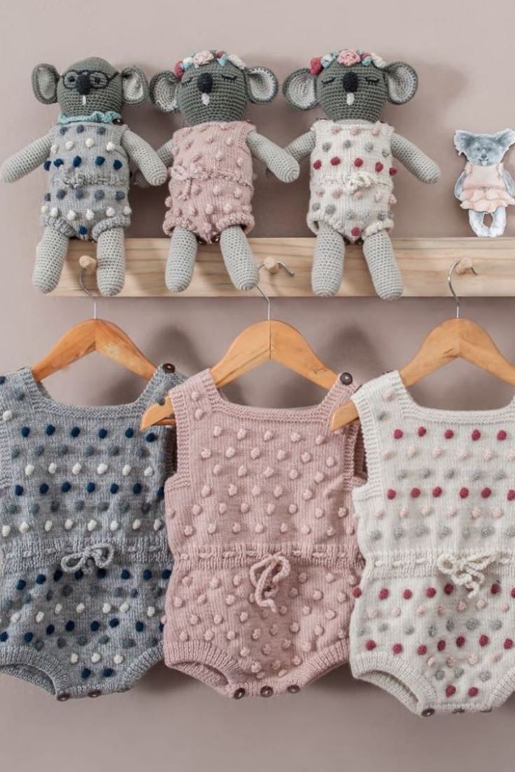 These Sweet Bubble Rompers Are Our Classics Now Available For Your Dolls Or Our Koala Dolls Shirleybredal Bubble Bubble Romper Baby Knitting Crochet Baby