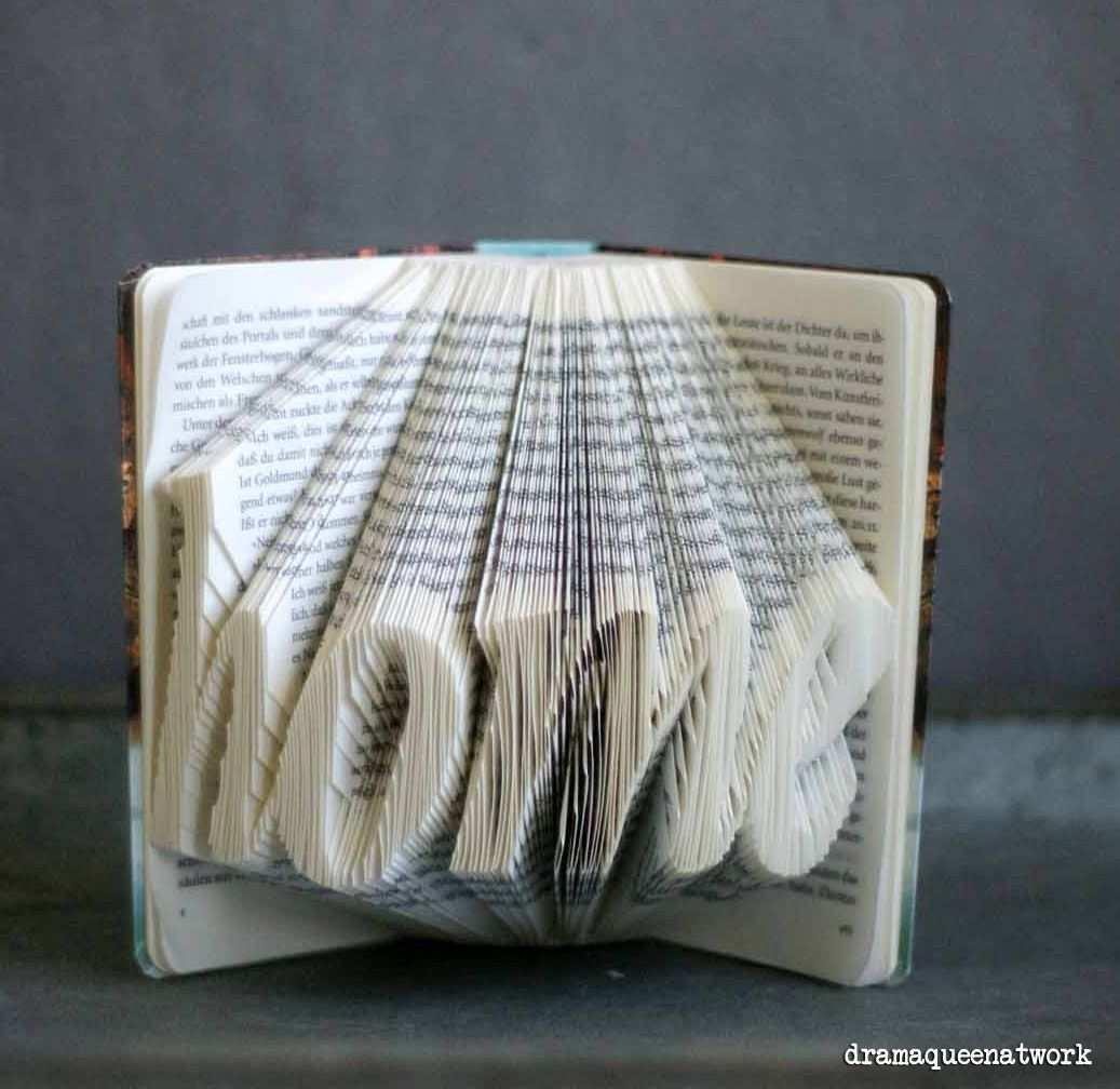 3d Book Art Worter In Bucher Falten Bucher Falten Vorlage Bucher Falten Bucher Falten Anleitung