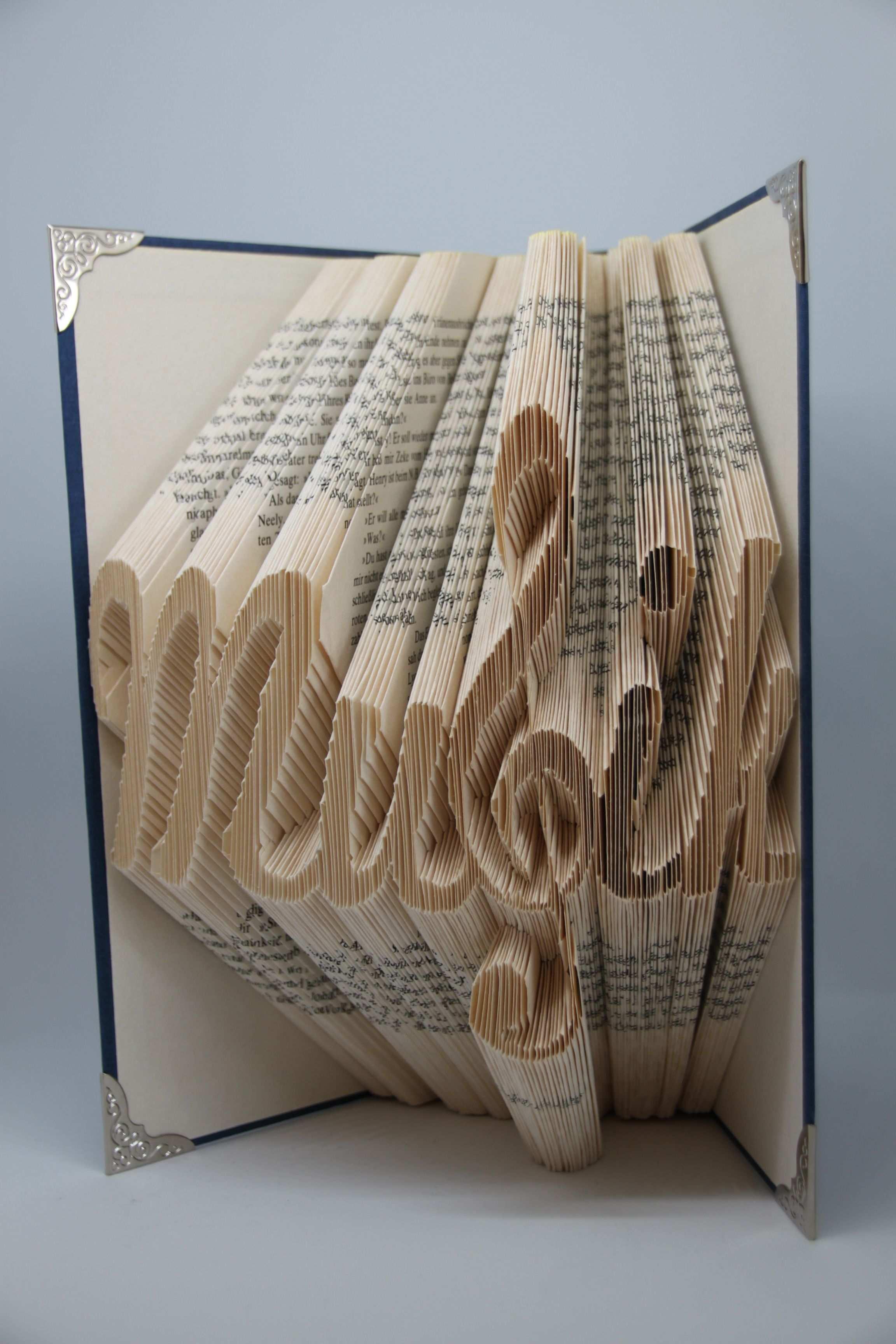 Pin Auf Buchfaltkunst