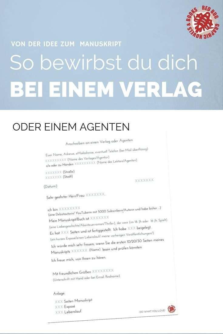 Von Der Idee Zum Manuskript 11 Anschreiben An Verlage Oder Agenten Red Bug Culture Buch Selber Schreiben Eigenes Buch Schreiben Buch Schreiben