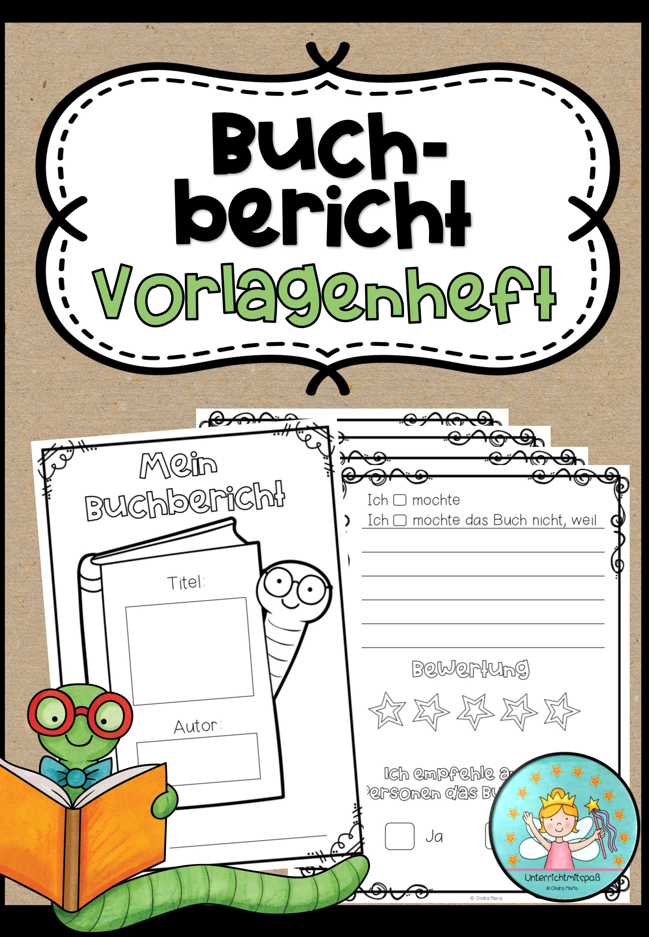 Buchbericht Vorlagenheft Heftchen Zum Verfassen Eines Buchberichts In 2020 Buchvorstellung Grundschule Lehrer Planer Kostenlos Bucher