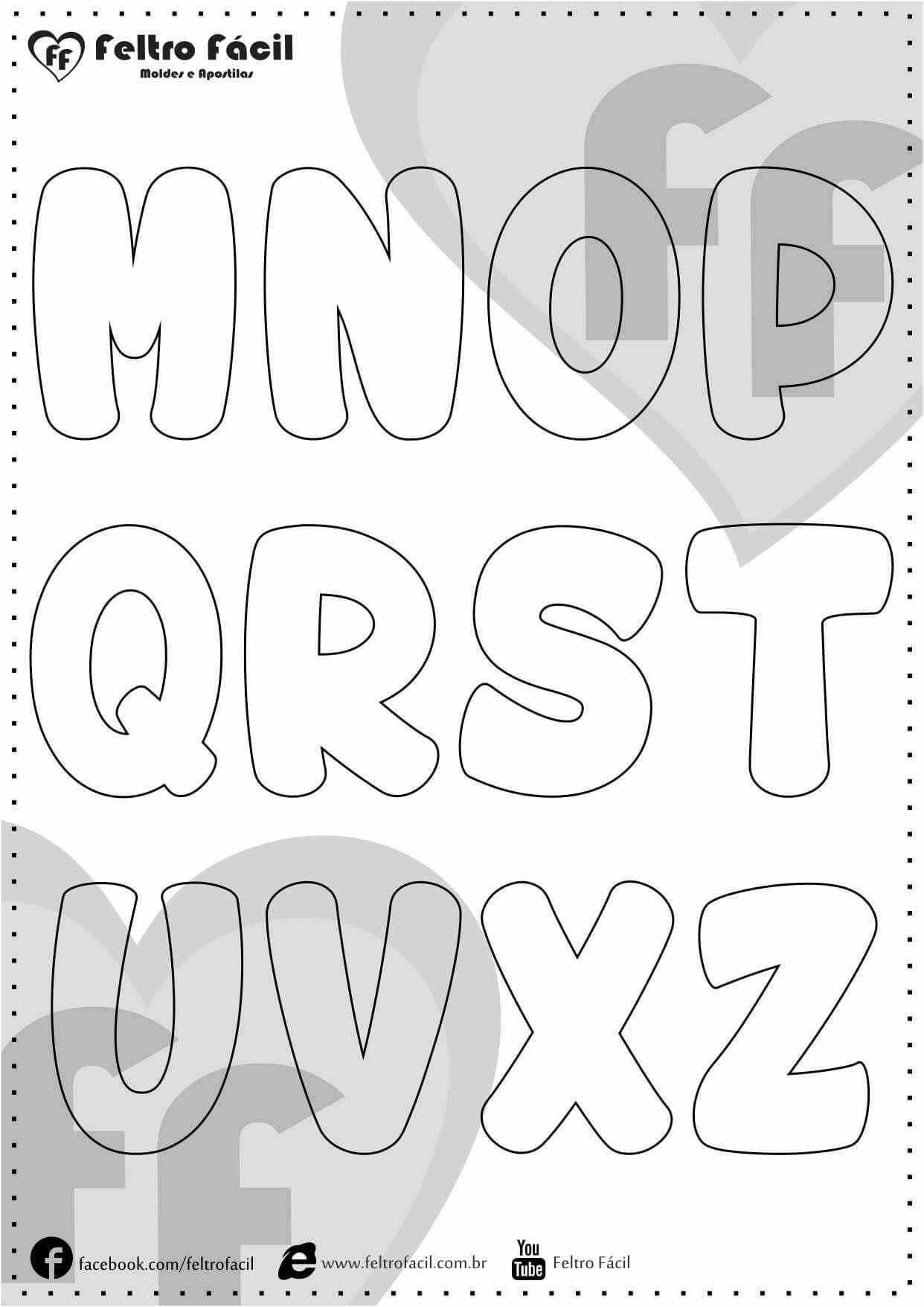 Pin Von Gislaine Mielke Venzke Auf Jissy Cordova Buchstaben Zum Applizieren Buchstaben Schablone Alphabet Buchstaben