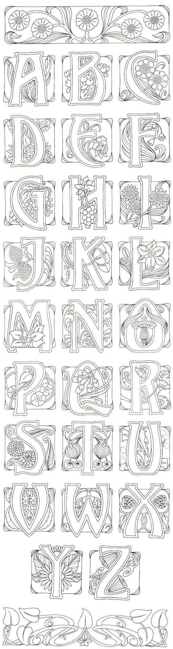 Art Buchstaben Yazi Yazma Ilhami Boyama Sayfalari Boyama Kitaplari