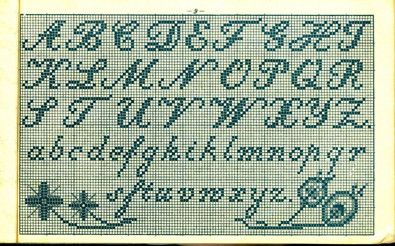 Free Easy Cross Pattern Maker Pcstitch Charts Free Historic Old Pattern Books Alphabete Und Muster Zum Waschez Alphabet Sticken Buchstaben Sticken Sticken