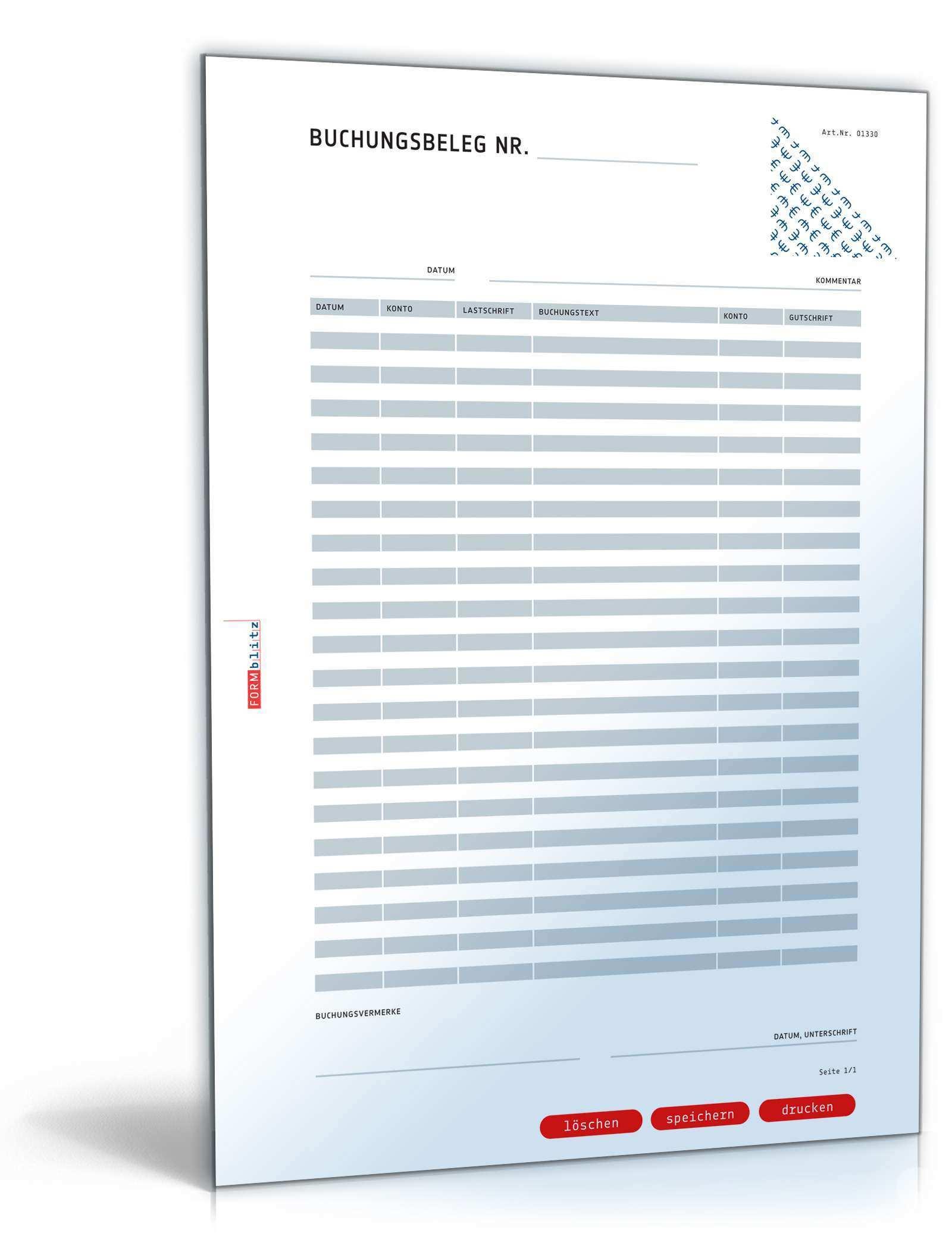 Buchungsbeleg Muster Zum Download