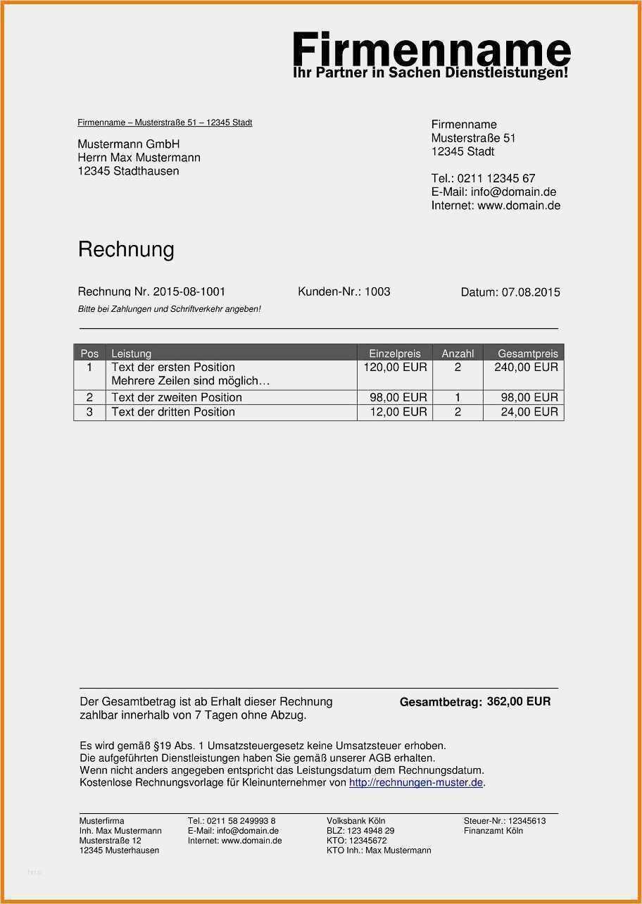 35 Beste Rechnung Schreiben Vorlage Ohne Umsatzsteuer Foto In 2020 Rechnung Vorlage Rechnungsvorlage Vorlagen Word