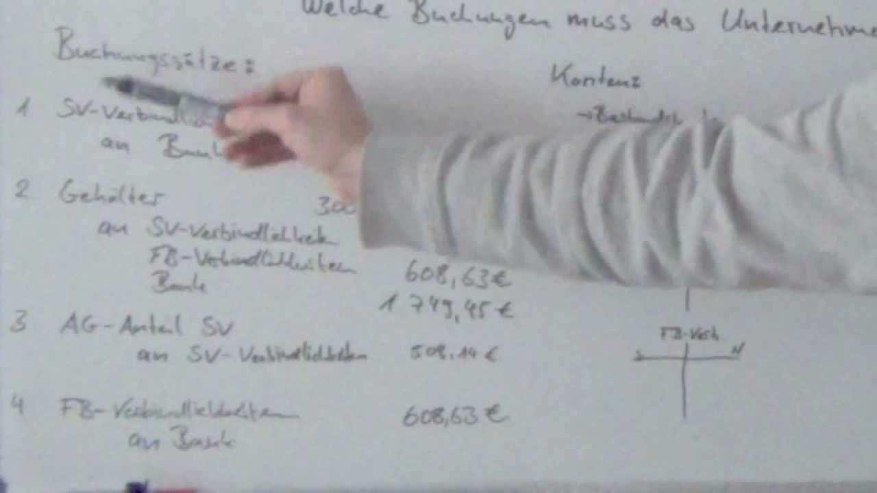 Lohn Und Gehalt Buchen Teil1 Youtube