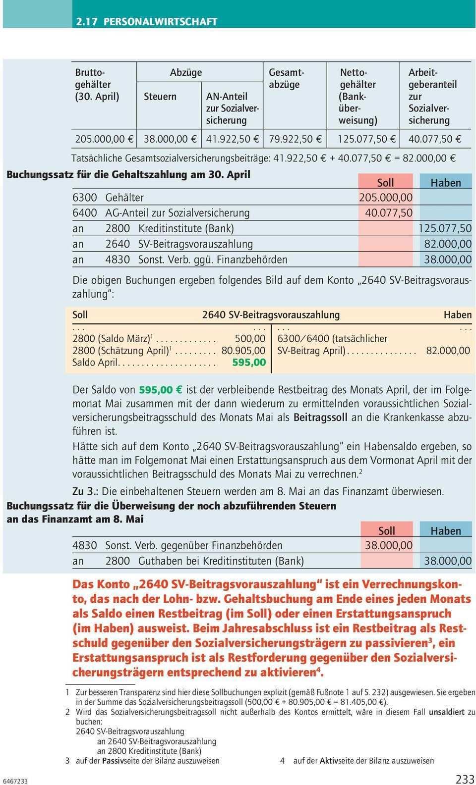 Lohn Bzw Gehaltsbuchungen Pdf Kostenfreier Download