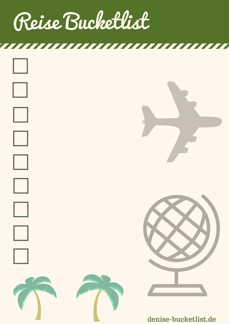 Bucket List Vorlage Eine Bucket List Erstellen Inkl Loffelliste Download Vorlagen Reisen Tipps Furs Leben