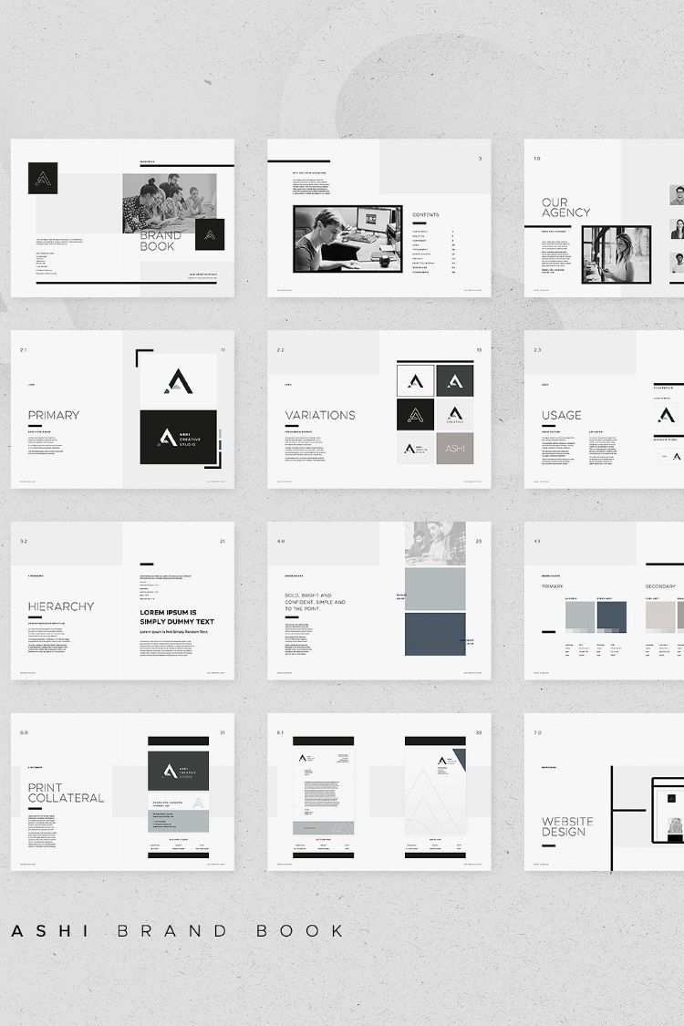 Markenbuch Ashi Bookletgestaltung Zeitschriften Layouts Designkonzepte