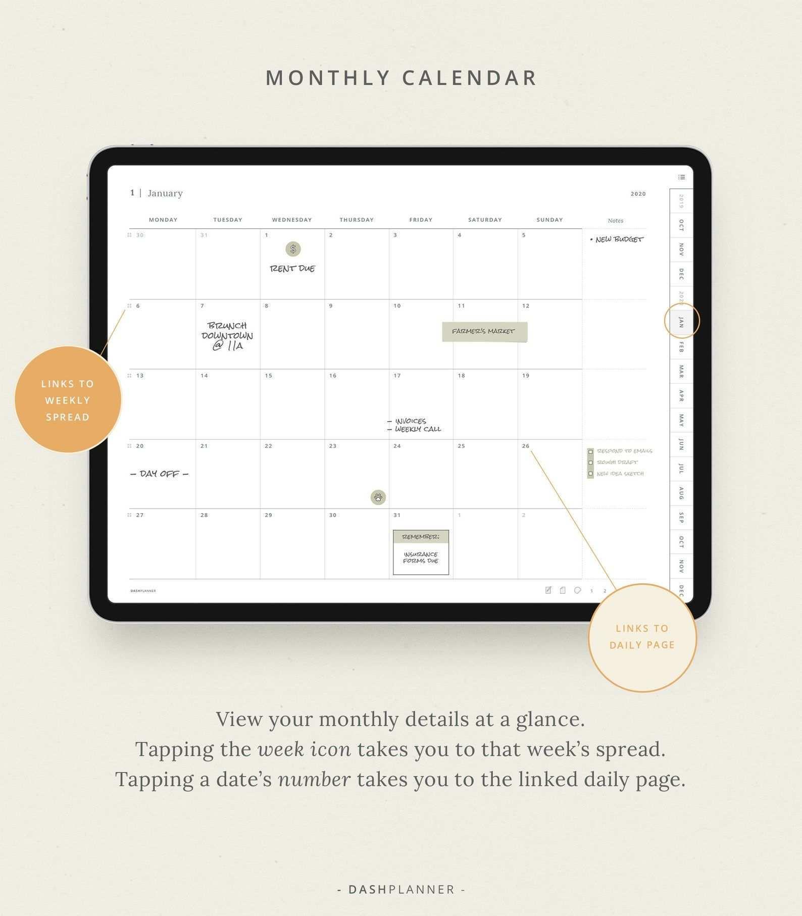 2020 Digitalplanner Datiert Vorlage Fur Goodnotes Taglich Etsy Digital Planner Weekly Schedule Weekly Schedule Planner
