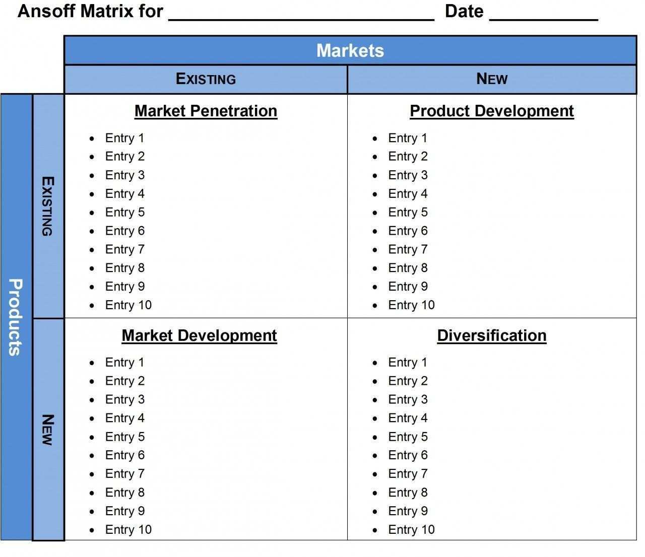 Ansoff Matrix Ms Word Template Microsoft Word Invoice Template Label Templates Word Template