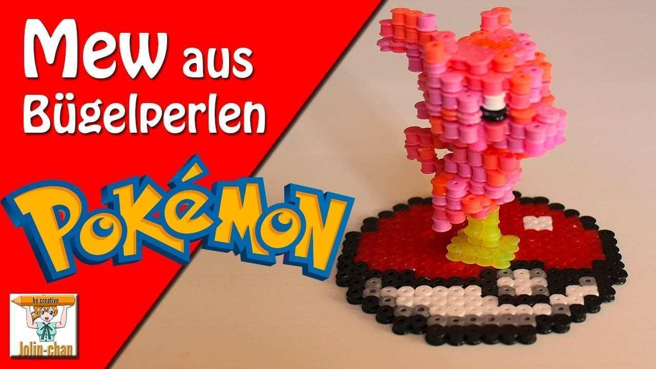 Diy Mew 3d Bugelperlen Tutorial Perler Bead Bugelperlen Pokemon Perlen Pokemon