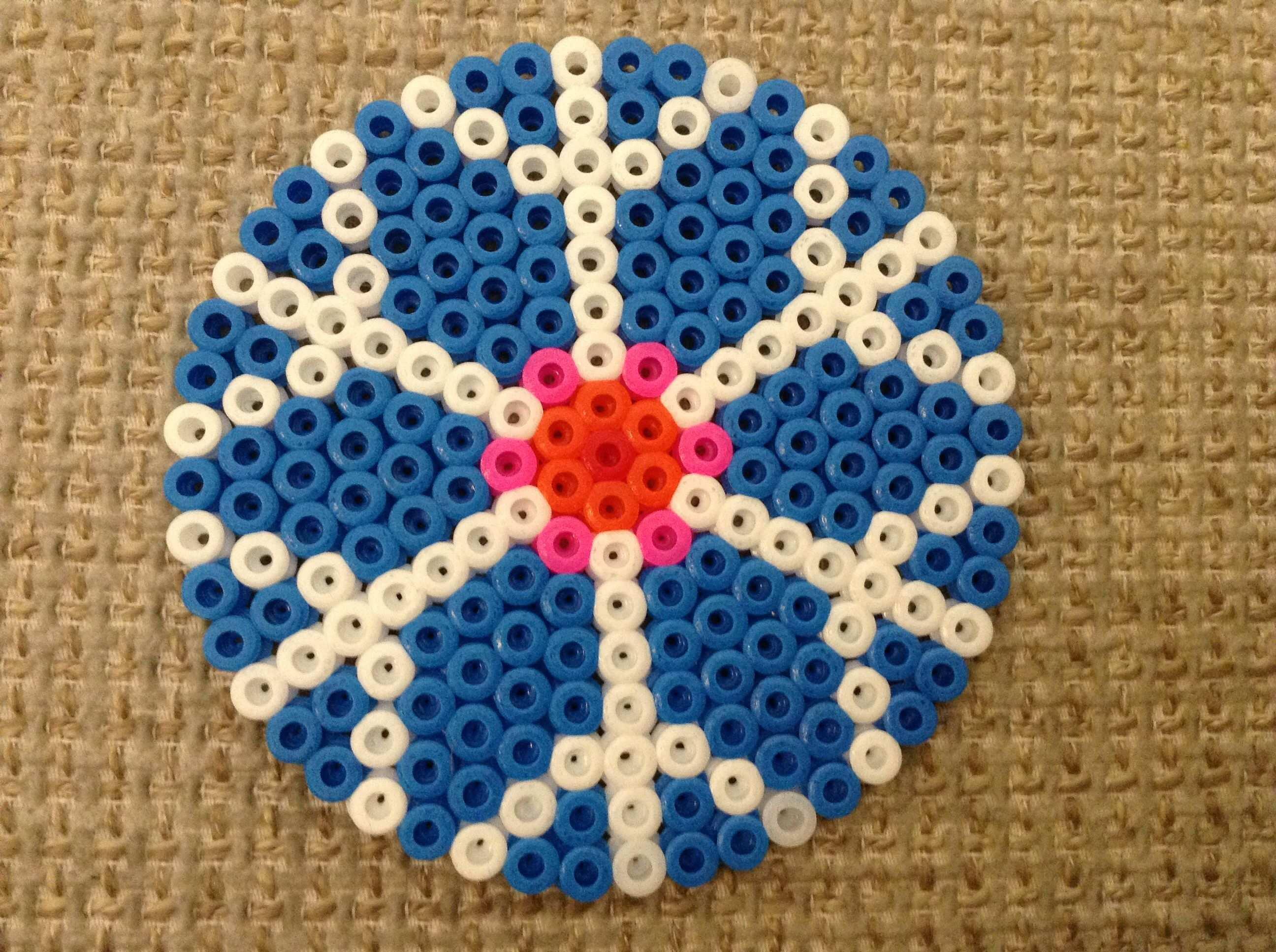 Bugelperlen Schneeflocke Hama Beads Beads Hama