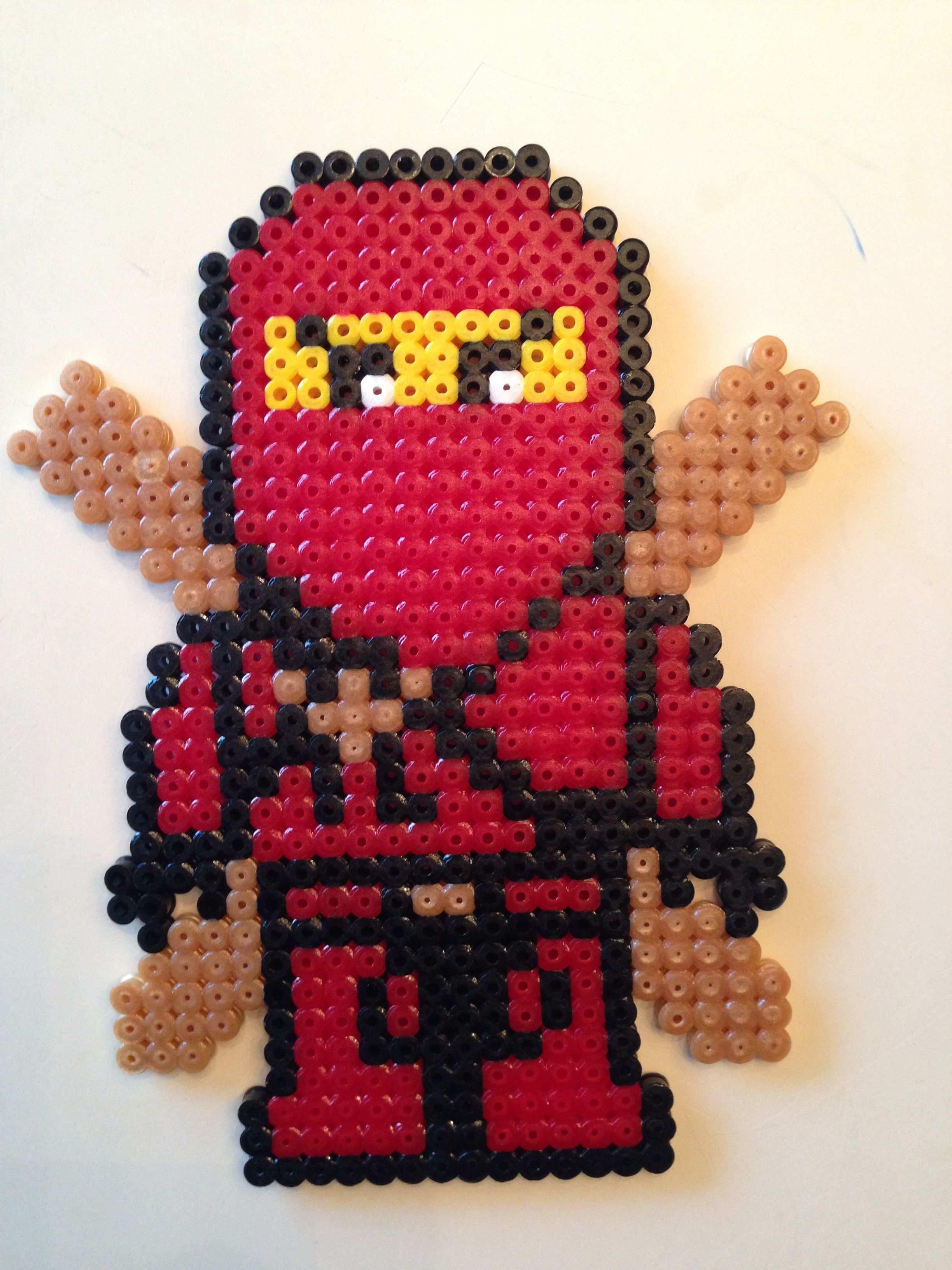 Hama Ninjago Kai Bugelperlen Basteln Bugelperlen Hama Bugelperlen