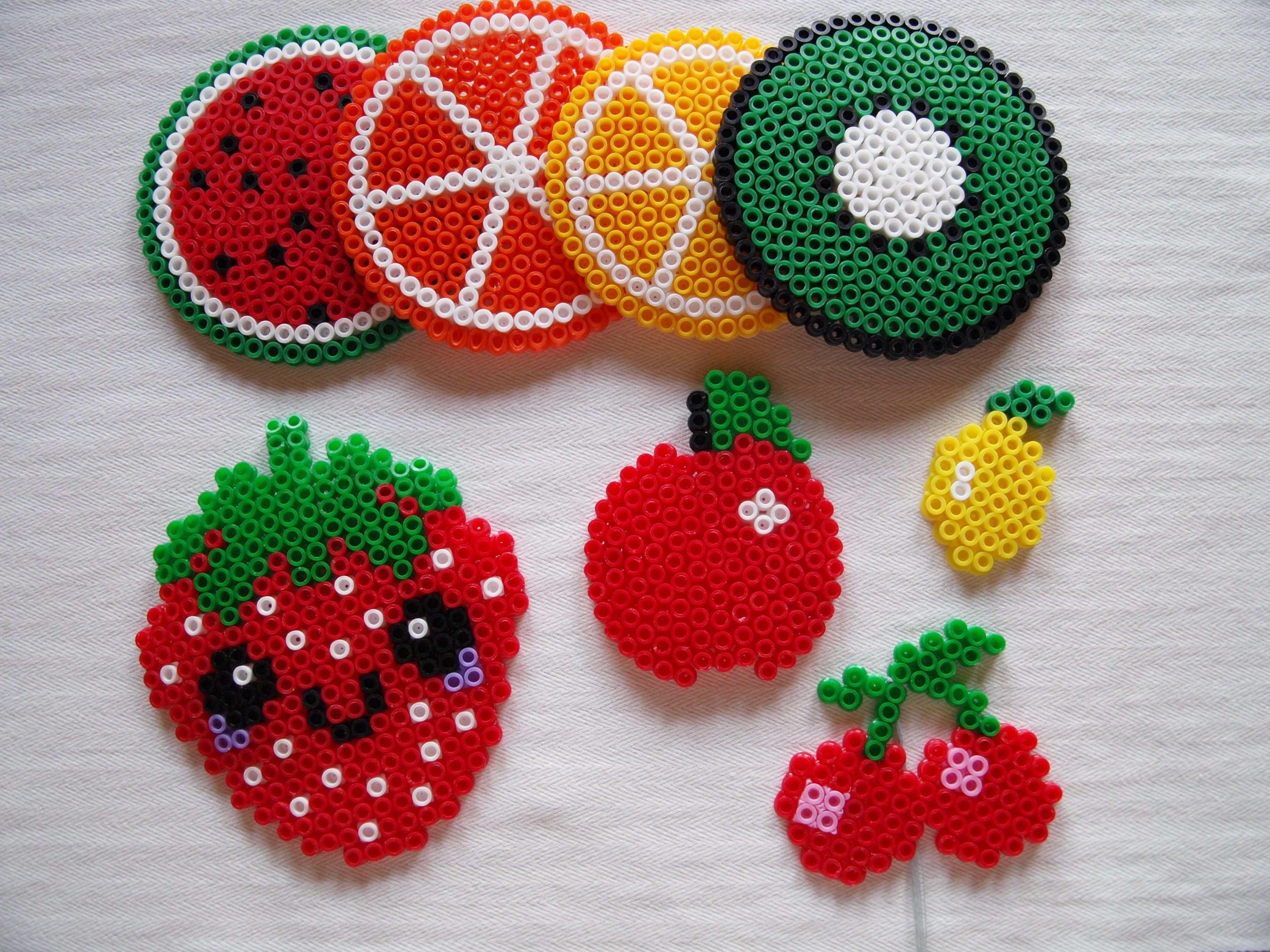 Neu Bugelperlen Vorlagen Obst Basteln Bugelperlen Bugelperlen Bugelperlen Vorlagen