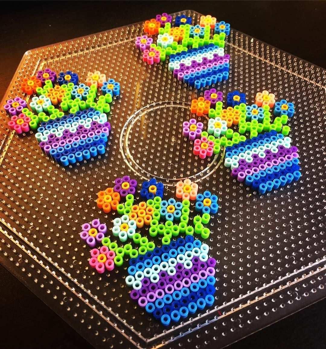 Flowers Mini Perler Beads By Perlermom Perler Bead Templates Hama Beads Patterns Diy Perler Beads