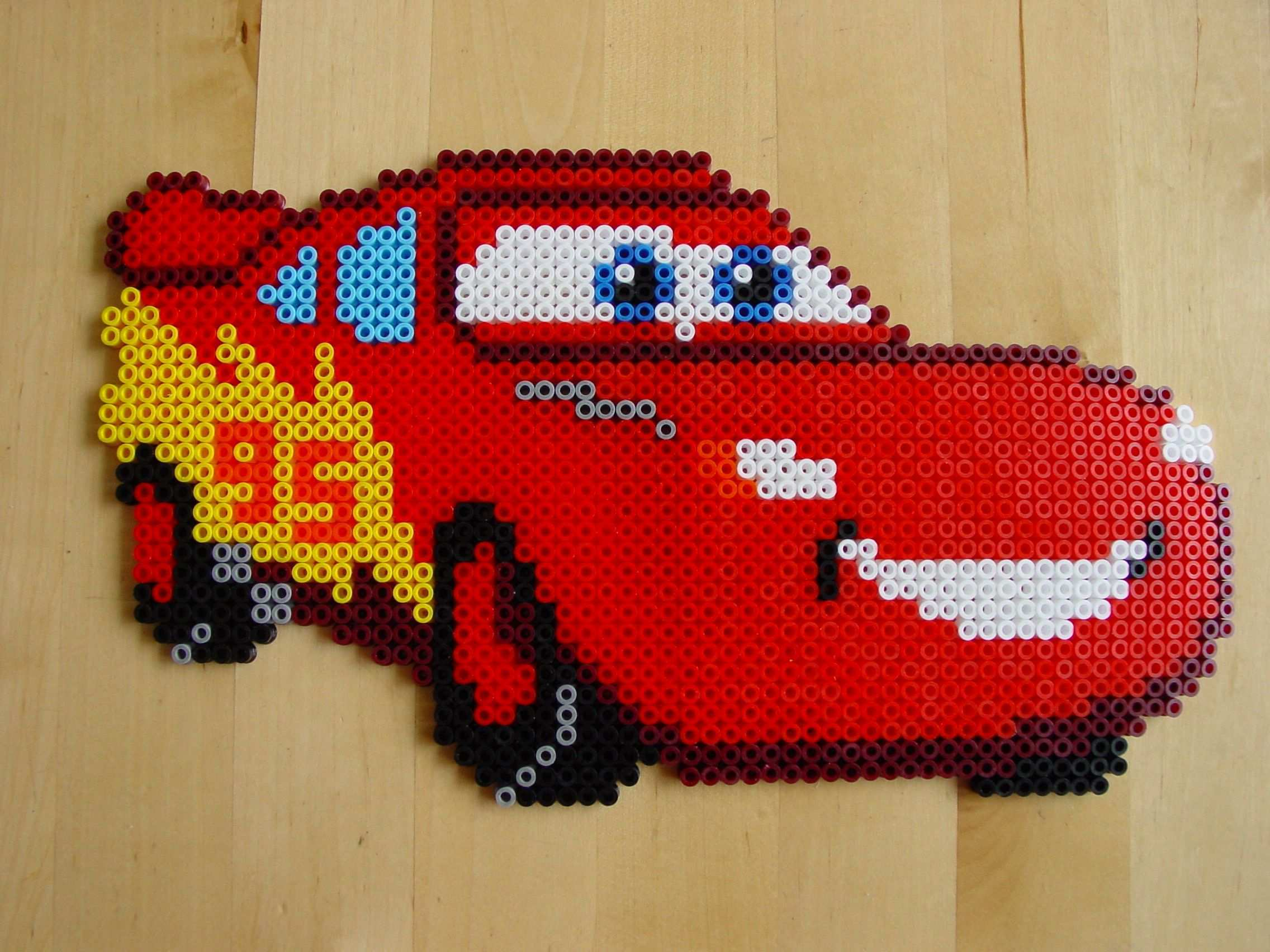 Macqueen Cars Hama Beads By Hester Point De Croix Perles Hama Perle