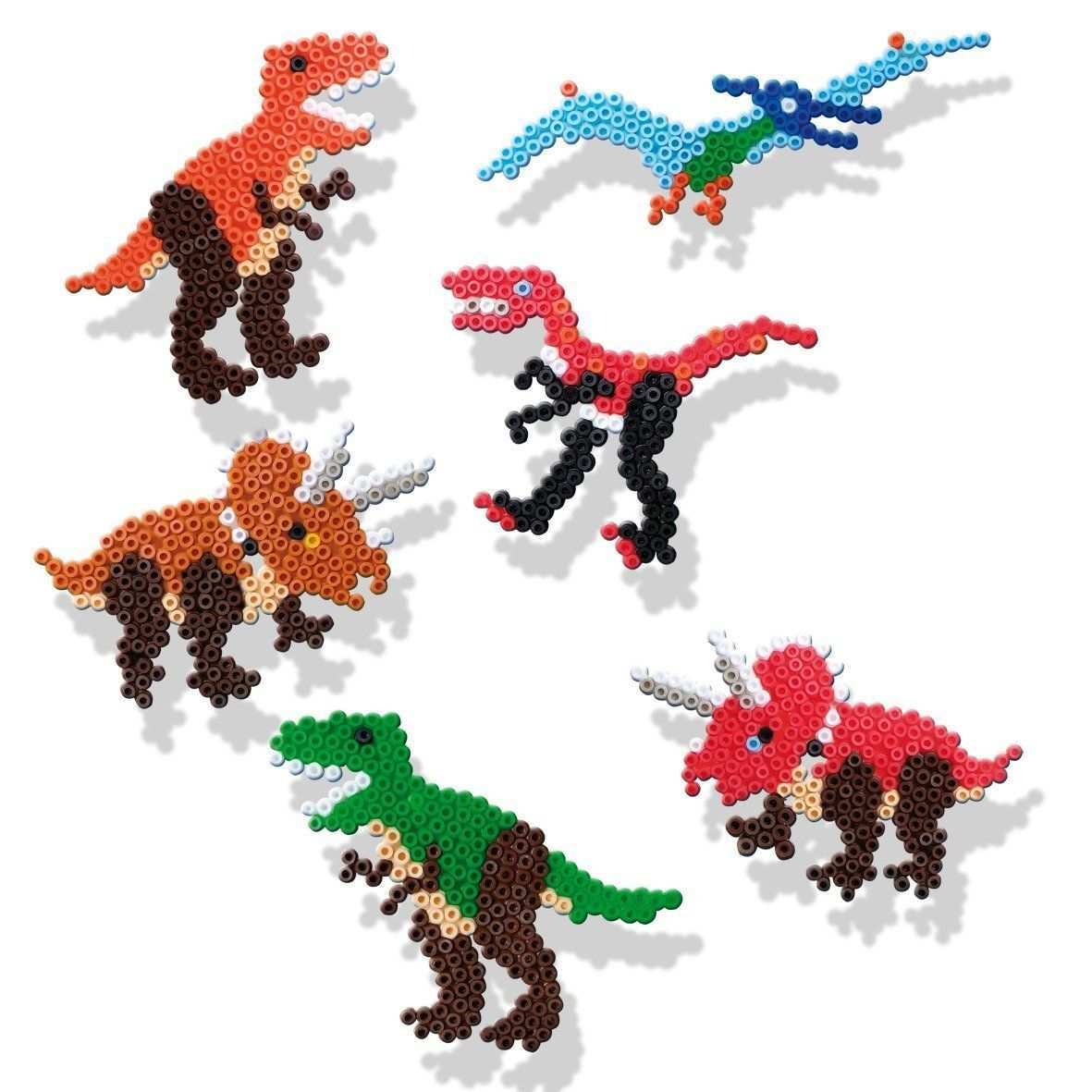 Ses 06125 Bugelperlenset Dinosaurier Amazon De Spielzeug Perler Bead Designs Basteln Bugelperlen Bugelperlen