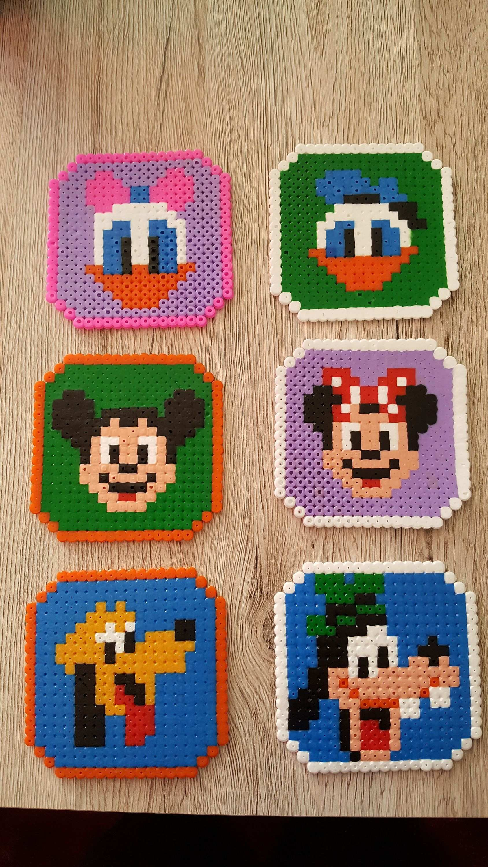 Disney Untersetzer Etsy Basteln Bugelperlen Perler Bead Designs Bugelperlen