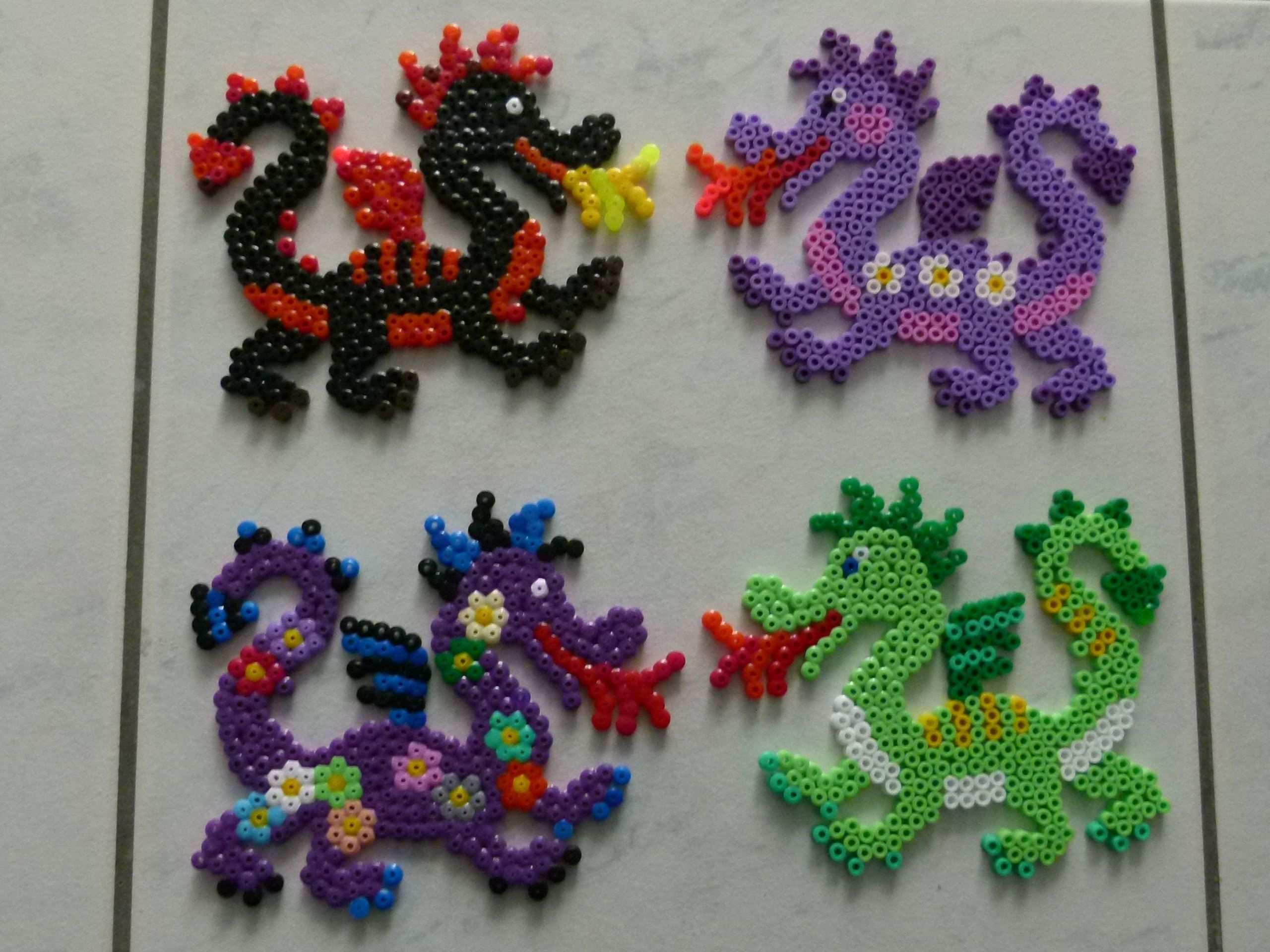Dragons Hama Beads Bugelperlen By Brandi040 Bugelperlen Basteln Bugelperlen Perler Bead Designs