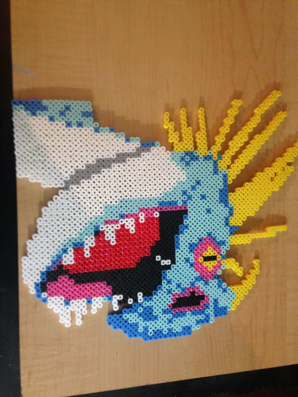 How To Train Your Dragon Stormfly Head Perler Wall Decoration Perler Bead Art Melty Bead Patterns Perler Bead Patterns