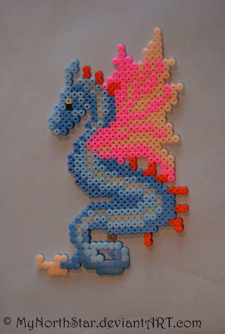Little Dragon By Mynorthstar On Deviantart Perler Bead Art Perler Bead Templates Perler Beads