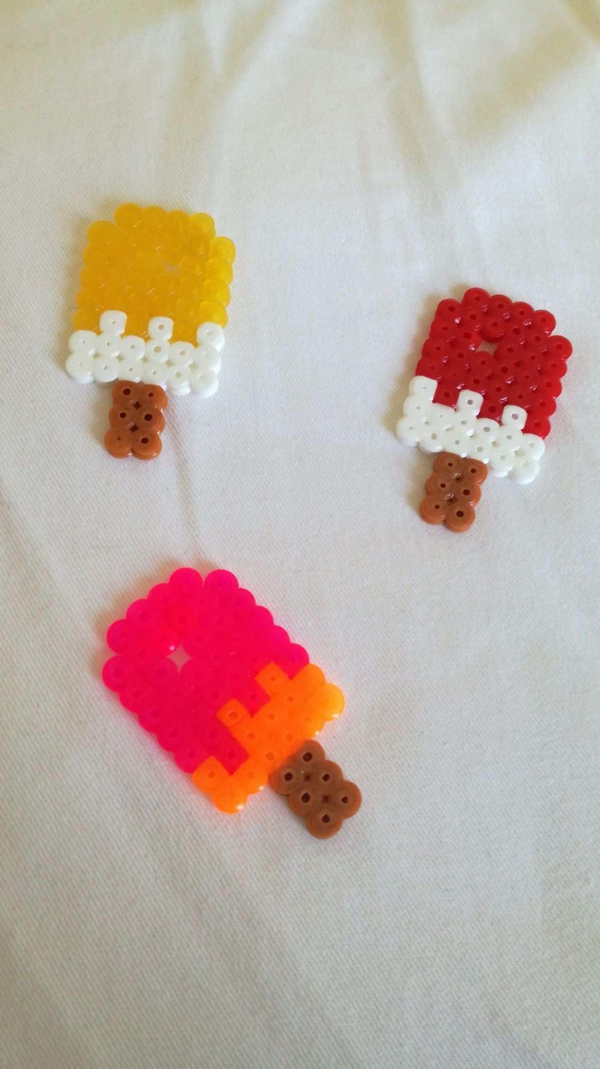 Eis Aus Bugelperlen Supereinfach Bugelperlen Basteln Mit Kindern Basteln