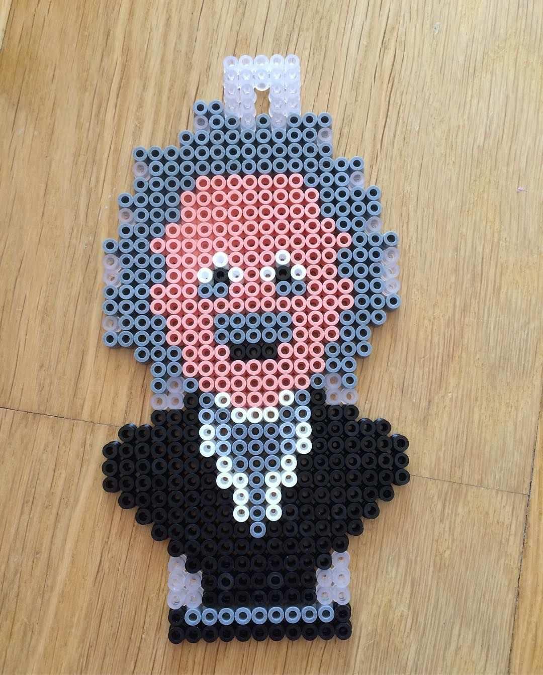 Albert Einstein Perler Beads By Mathildas Perler Beads Basteln Bugelperlen Bugelperlen Vorlagen Bugelperlen