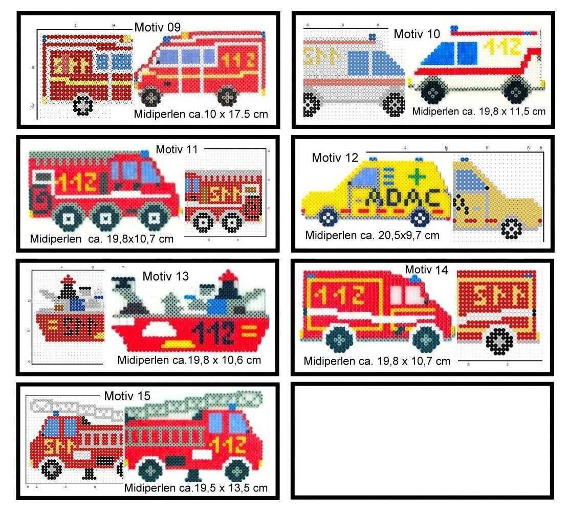 Https Www Hood De I Buegelperlen Vorlagen 01a 09 15 Rettungsfahrzeuge 1 Auswaehlen 51022105 Htm Bugelperlen Vorlagen Basteln Bugelperlen Feuerwehr