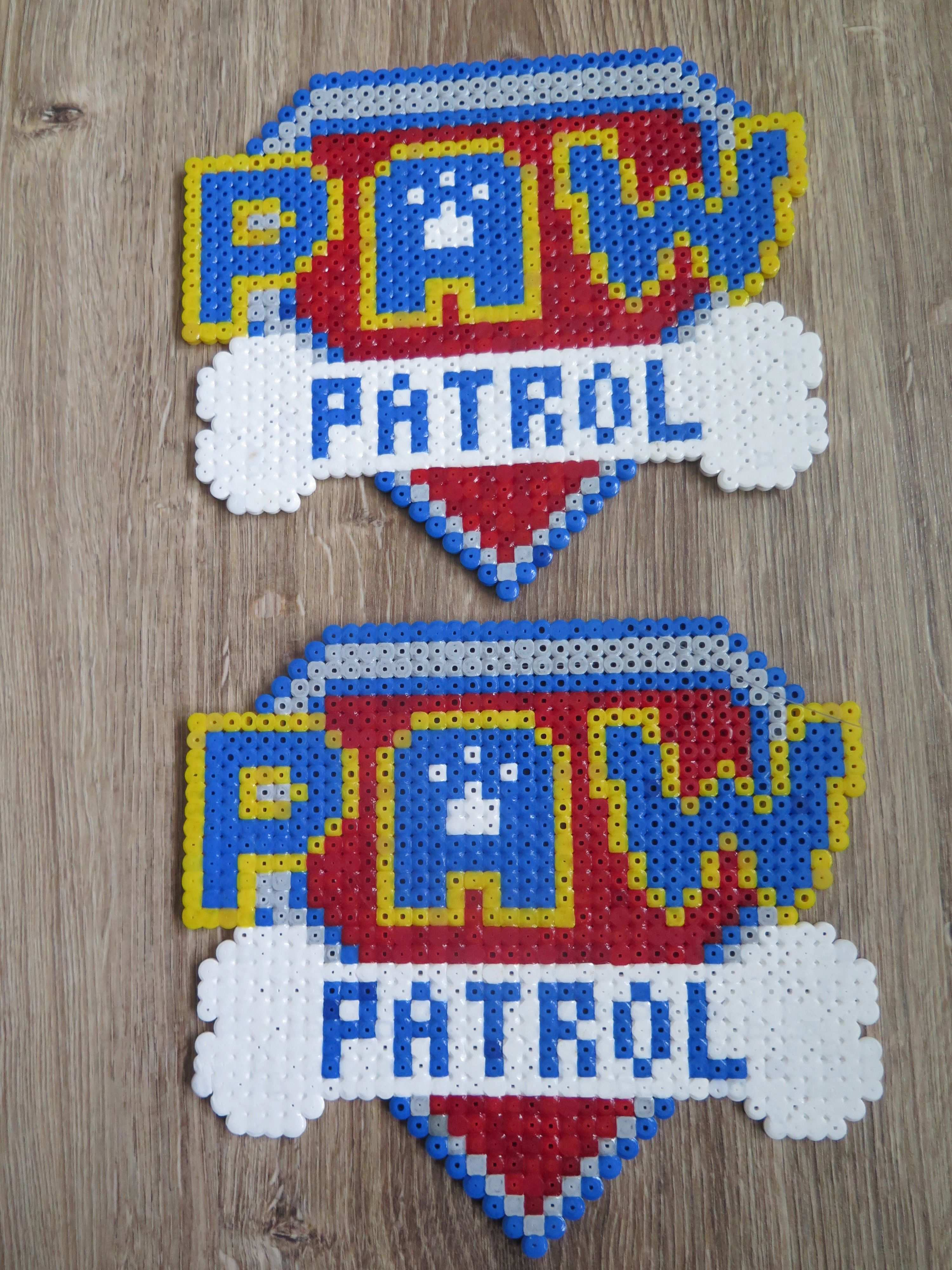 Paw Patrol Logo Hama Strijkkralen Beads Perler Bugelperlen Basteln Bugelperlen Bugelperlen Vorlagen