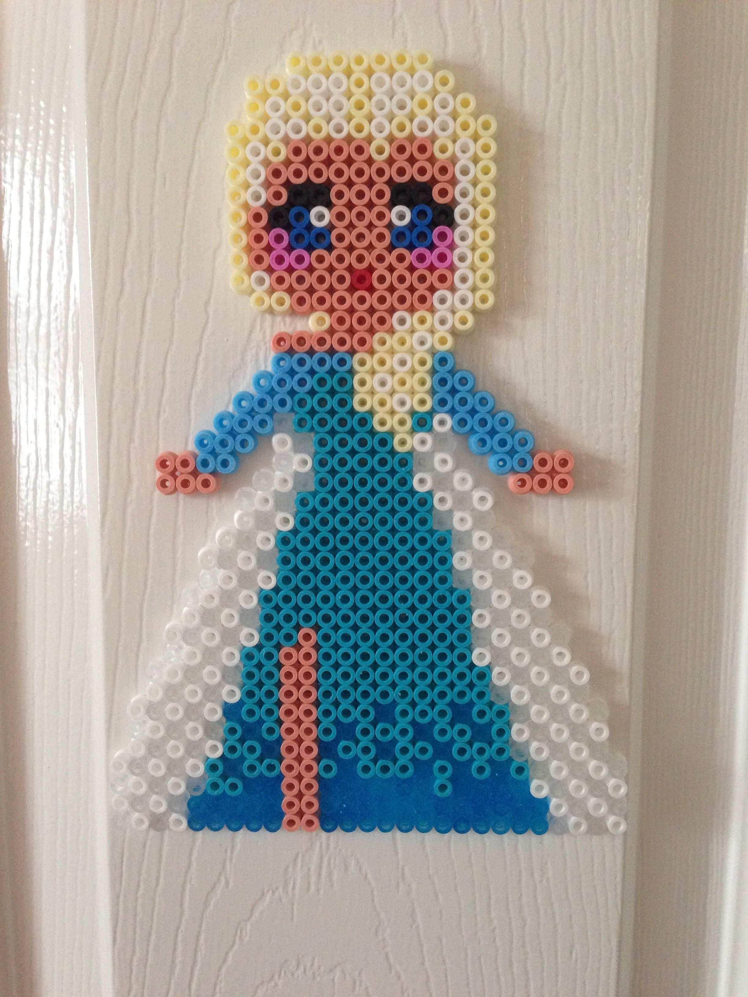 Frozen Elsa Hama Bead Basteln Bugelperlen Bugelperlen Bugelperlen Vorlagen